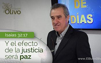 El efecto de la Justicia será PAZ